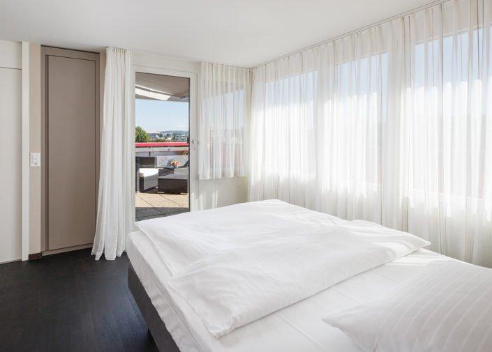 Sky Suite Schlafbereich welcome homes, Glattbrugg