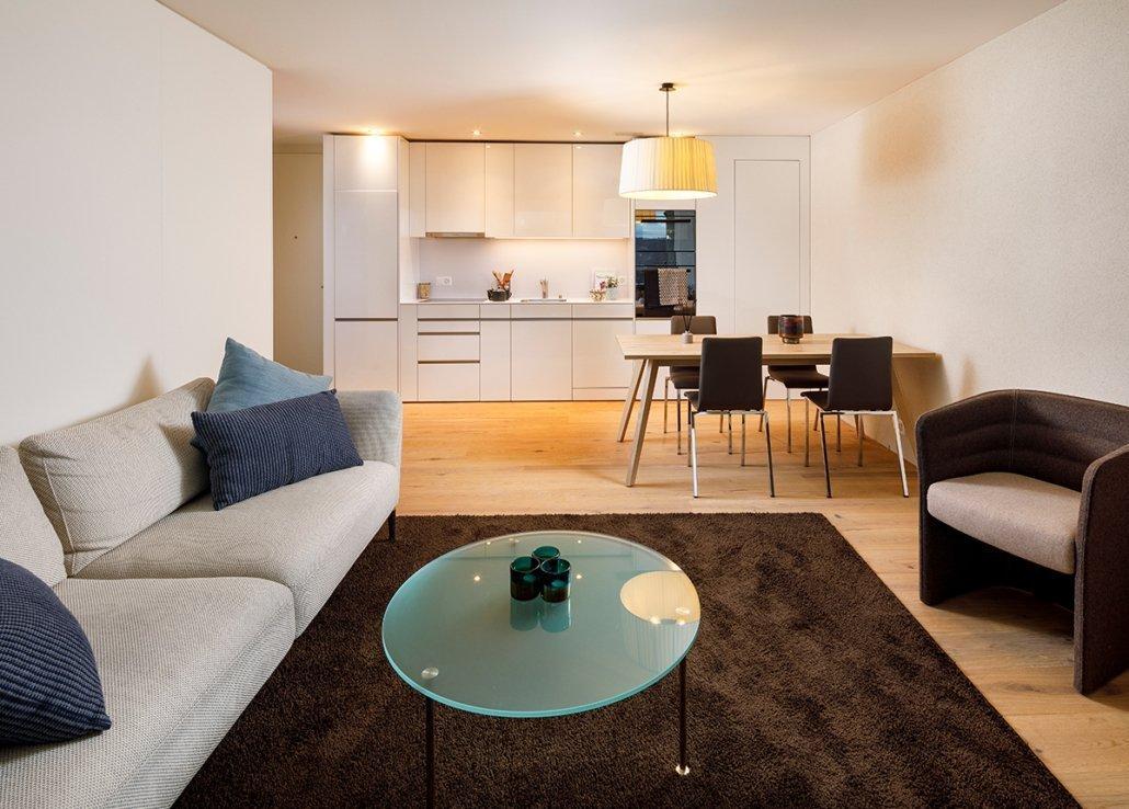 Wohnbeispiel 2.5 Zimmer Wohnung möbliert Allegra Living Kloten